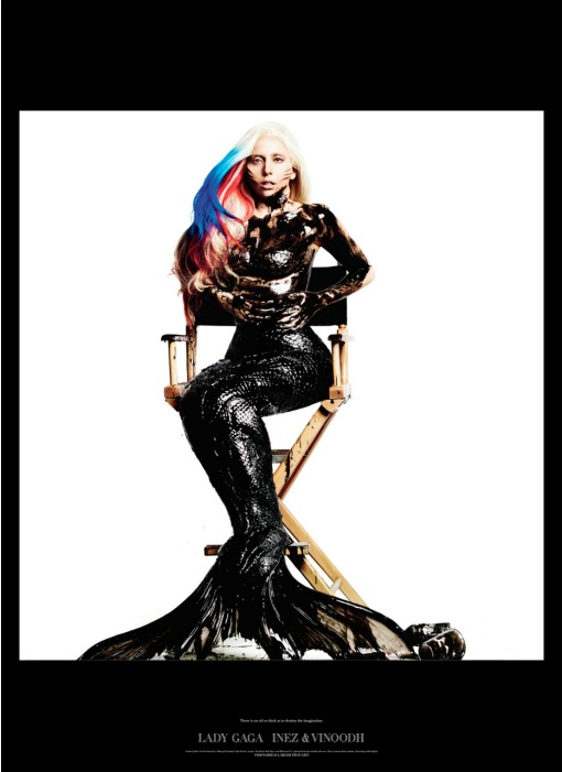 lady gaga on the back cover of visionaire magazine #61 novmber 2011