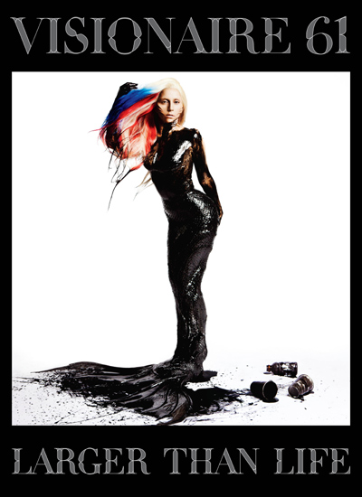 lady gaga on the cover of visionaire magazine #61 november 2011