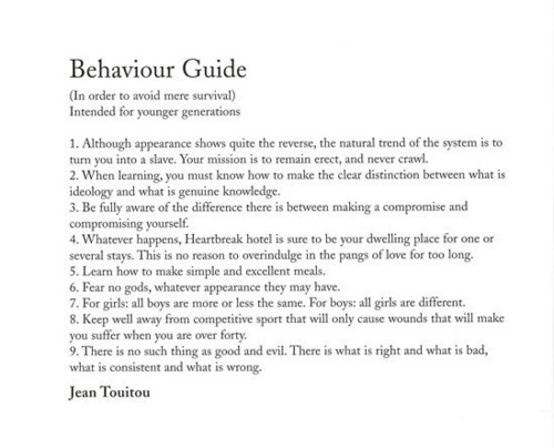 guide to proper behavior