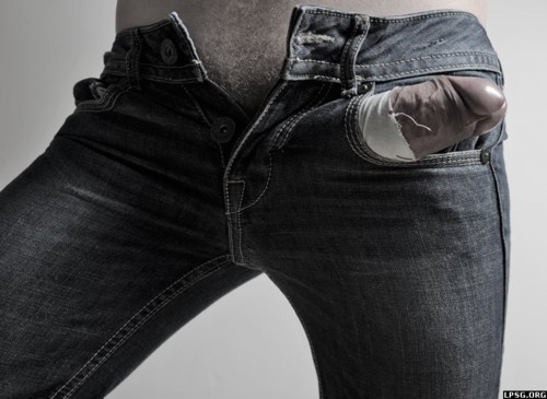 image of huge cock ripping through too tight jeans