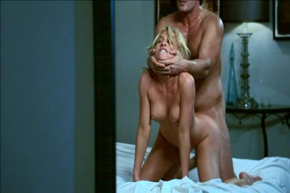gif of James Deen choking Kayden Kross while fucking her from behind on her knees