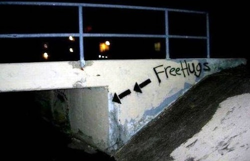 funny image of graffiti on a sketchy looking underpass