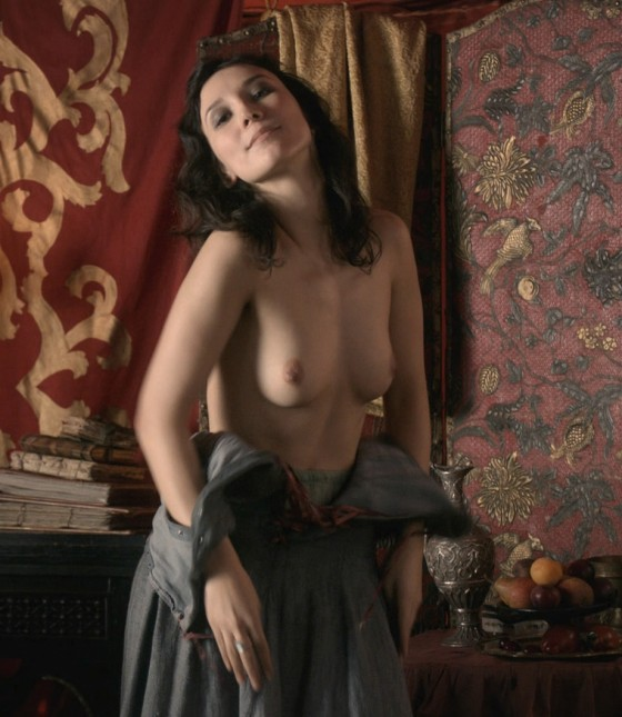 actress Sibel Kekilli playing Shae topless in Game of Thrones