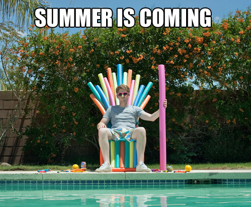 parody image of Game of Thrones tagline Winter is Coming